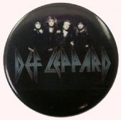 Def Leppard - 'Group Black' Button Badge